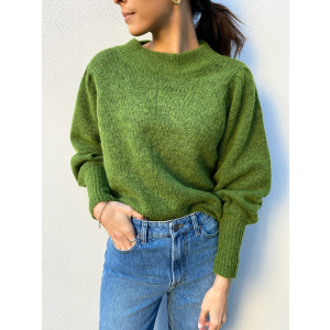 Linna Knit O-Neck - Twist of Lime