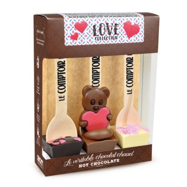 Love Collection, set with  3 Hot Chocolates