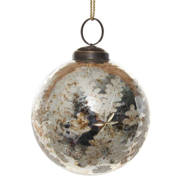 Glass ball antique Gold