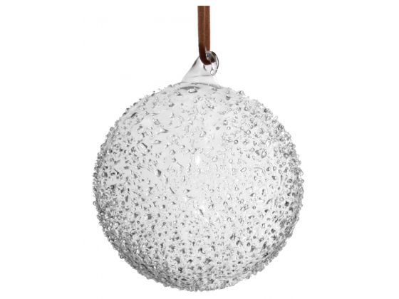 Glass ball iced leather hanging