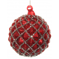 Glass ball cone antique red