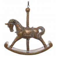 Carousel horse gold 9,5 cm