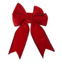 Velvet bow red w/clip