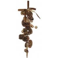 Cone hanger gold berries