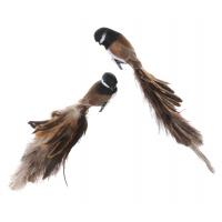 Fugl m/klype brun 40cm