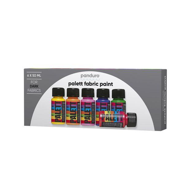 Palett 6x50 ml mørke stoffer