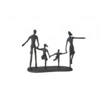 Figur løpende familie i jern