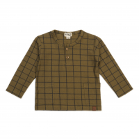 Organic long sleeve top - Grid