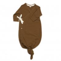 Organic baby kimono gown - Caramel