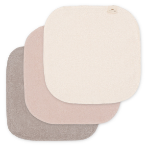 KONGES SLØJD - TERRY WASH CLOTHS 3-PK SHADES OF SAND