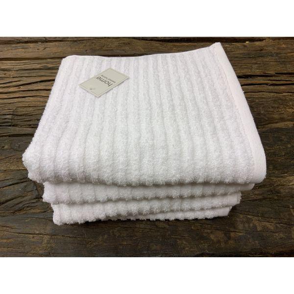 Classic stripe håndkle Hvit 50x100
