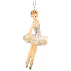 Ballerina sølv/hvit