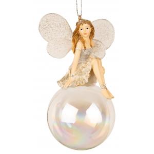 Ballerina alv m/kule sølv stor