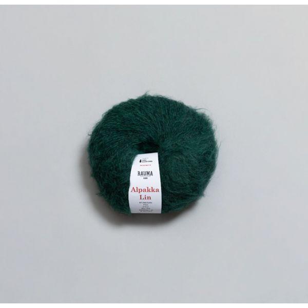 Rauma Alpakka Lin - 2385 - Smaragdgrønn
