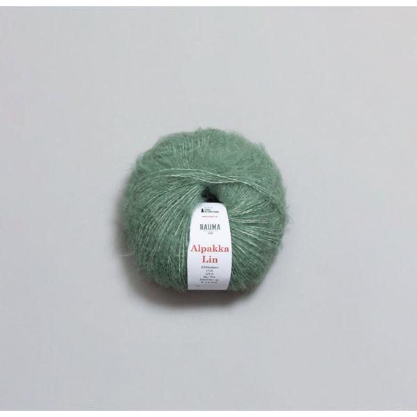 Rauma Alpakka Lin - 1364 - Jadegrønn