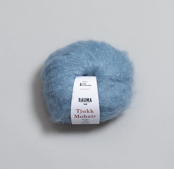 Tjukk Mohair 071 Himmelblå - Rauma Garn