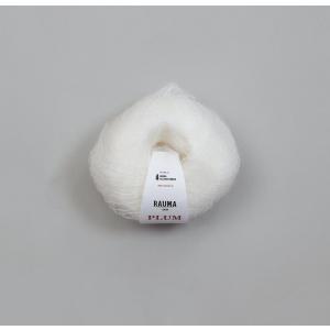 Plum 001 Hvit - Rauma Garn
