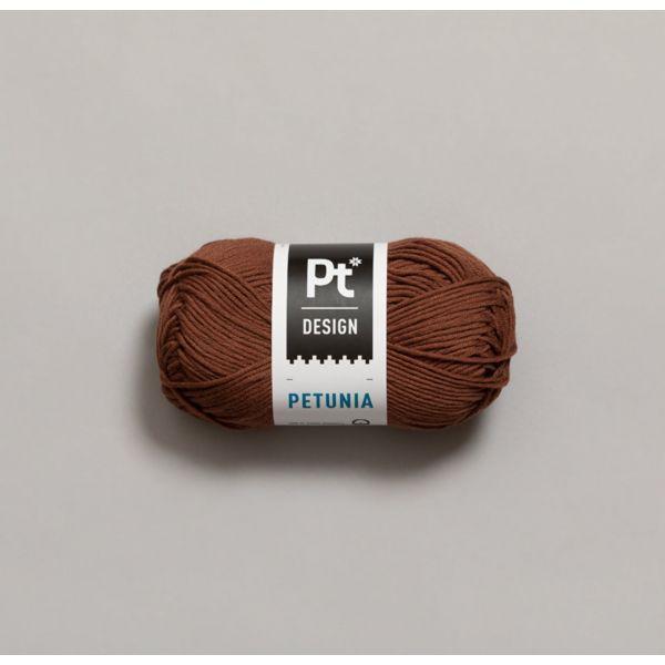 Petunia 242 Rødbrun - Rauma Garn