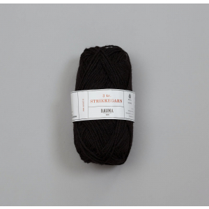 Rauma 3-tråds strikkegarn - 110 Sauesvart