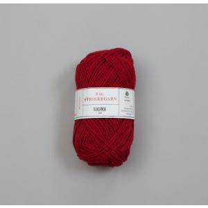 Rauma 3-tråds strikkegarn - 144 Mørk Rød