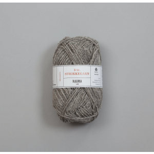 Rauma 3-tråds strikkegarn - 104 Gråmelert