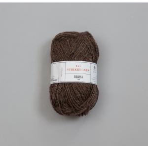 Rauma 3-tråds strikkegarn - 111 Brun Melert