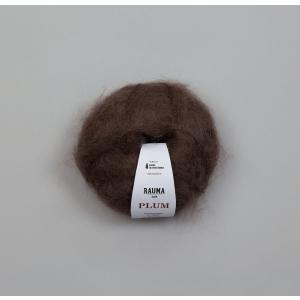 Plum 080 Mørk brun - Rauma Garn
