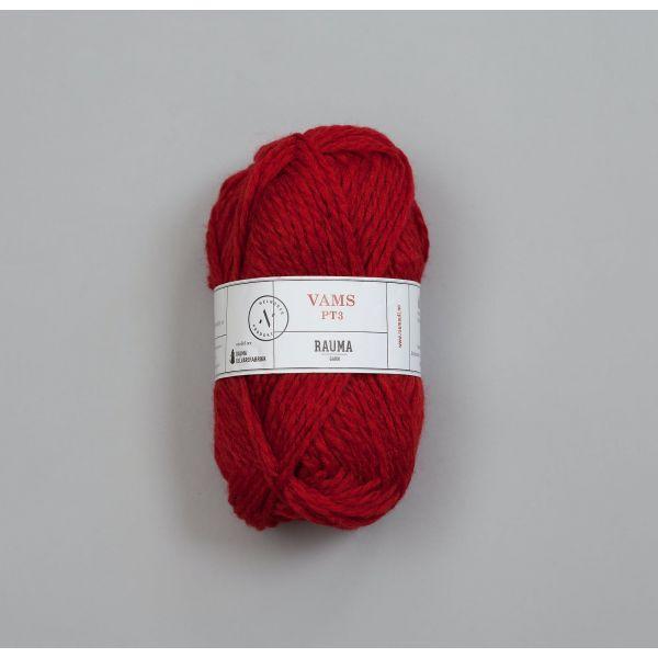 Vams V23 Mørk rød - Rauma Garn