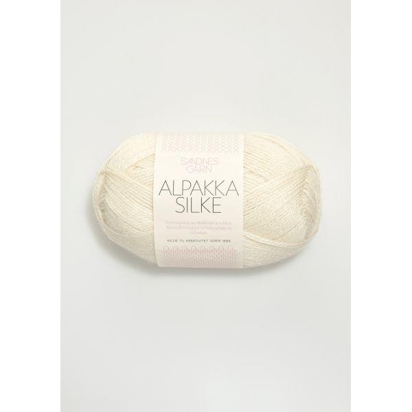 Alpakka Silke - Hvit 1002 - Sandnes Garn