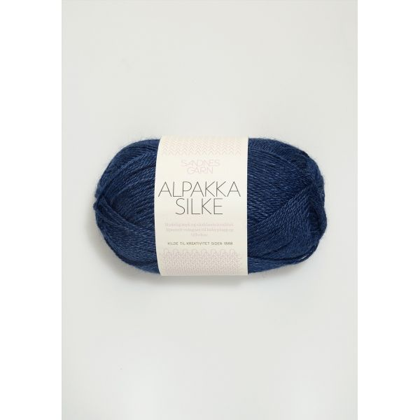Alpakka Silke - Inkblå 6063