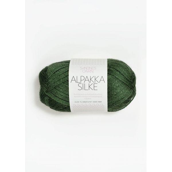 Alpakka Silke - Grønn 8264 - Sandnes Garn