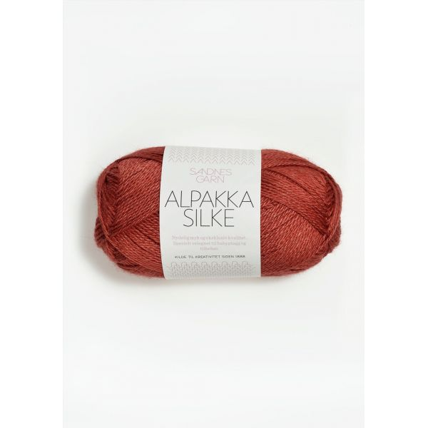 Alpakka Silke - Mørk Terrakotta 4035 - Sandnes Garn
