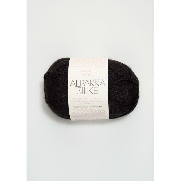 Alpakka Silke - Svart 1099 - Sandnes Garn