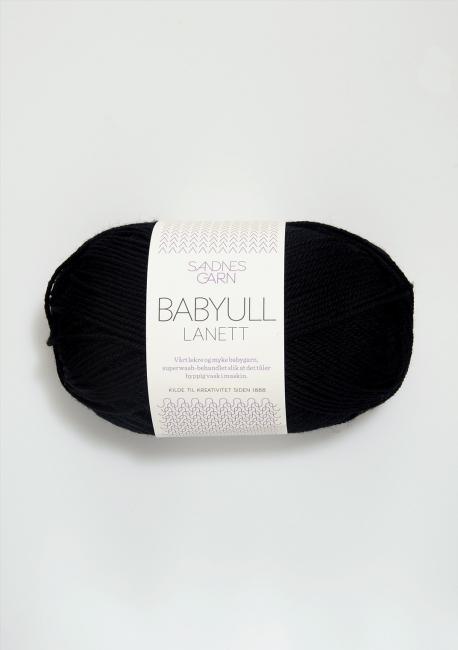 Babyull Lanett - 1099 Svart - Sandnes Garn