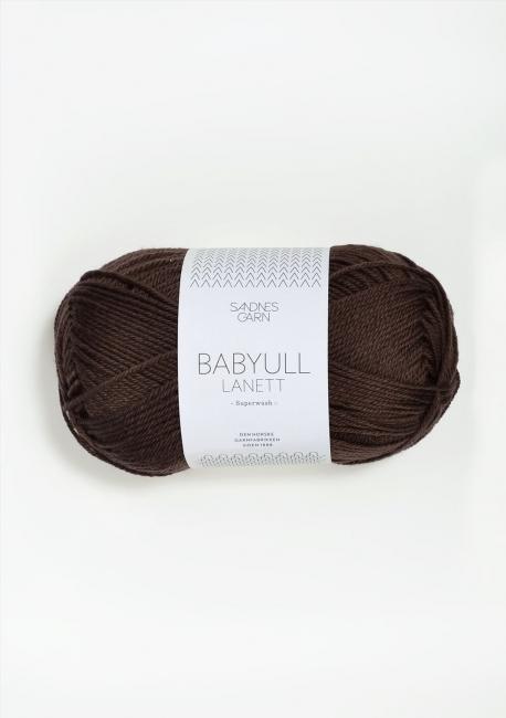 Babyull Lanett - 2571 Mørk Brun - Sandnes Garn
