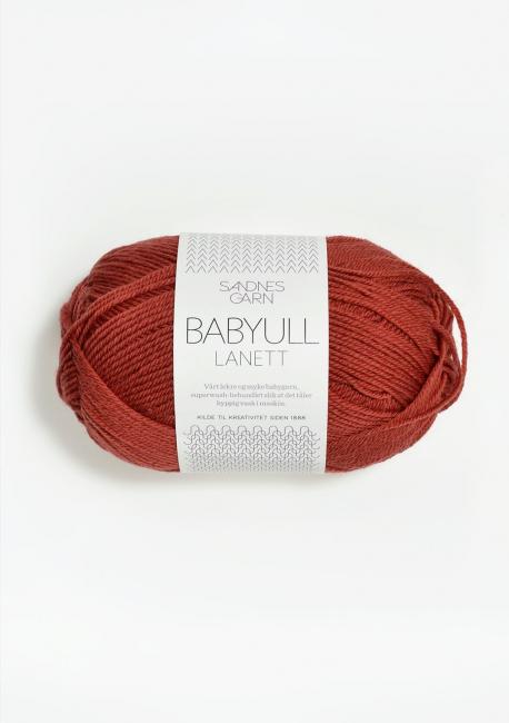 Babyull Lanett - 4035 Mørk Terrakotta - Sandnes Garn