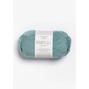 Babyull Lanett - 6841 Støvet Aqua - Sandnes Garn