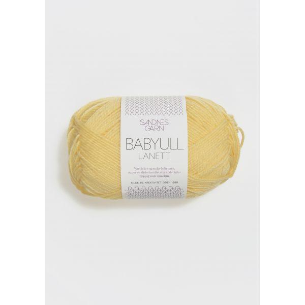 Babyull Lanett - Lys Gul 2014 - Sandnes Garn