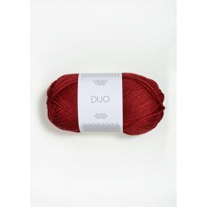 Duo 4236 Dyp Rød  - Sandnes Garn