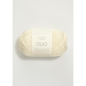 Duo 1002 Hvit  - Sandnes Garn