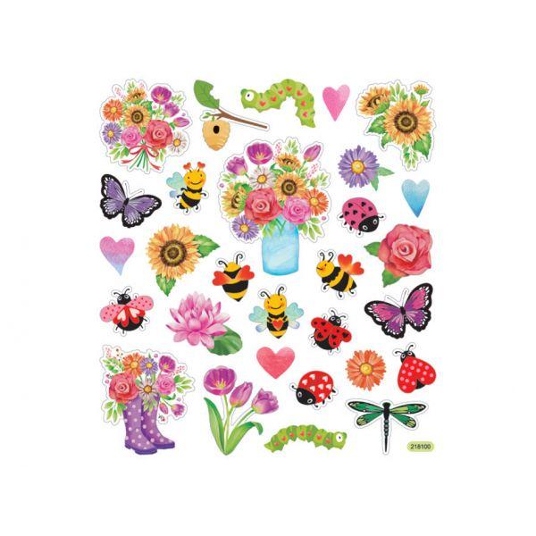 Klistremerker – Blomster og insekt