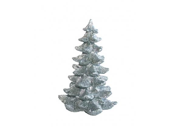 Juletre sølv m/ glitter