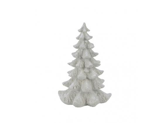 Juletre hvit m/ glitter, stor