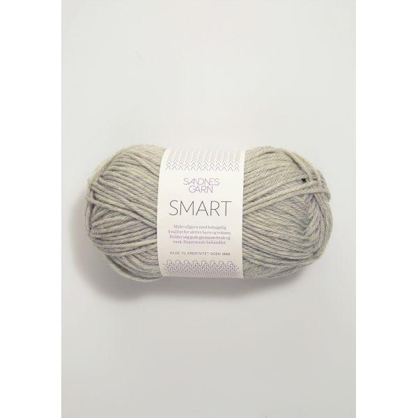 Smart 1032 Lys Gråmelert - Sandnes Garn