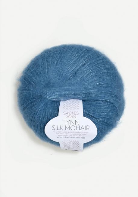 Tynn Silk Mohair 6042 Mørk Himmelblå - Sandnes Garn