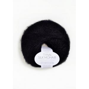Tynn Silk Mohair 1099 Sort - Sandnes Garn