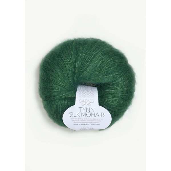 Tynn Silk Mohair 7755 Smaragd - Sandnes Garn