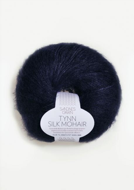 Tynn Silk Mohair 5581 Dyp Marine - Sandnes Garn