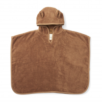 Kids Terry Poncho - Almond