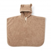 Kids Terry Poncho - Beige Tan